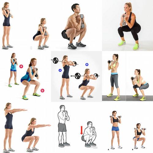 différents types de squats