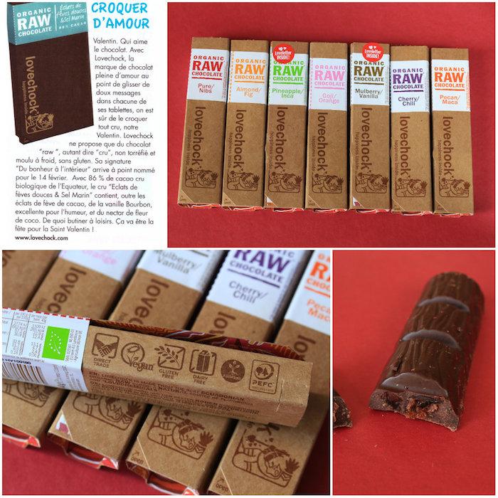 Barres de chocolat Lovechock